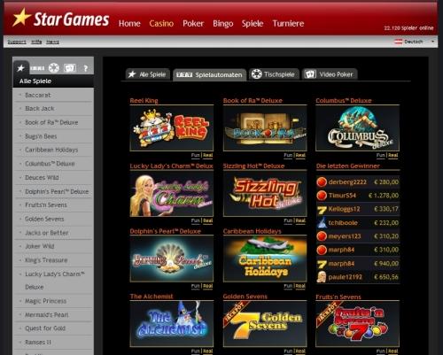Stargames Casino Anmeldung