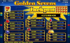 Novoline Golden Sevens Gewinnübersicht