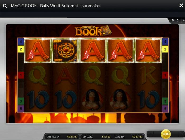 Bally Wulff Magic Book 6 Gewinn