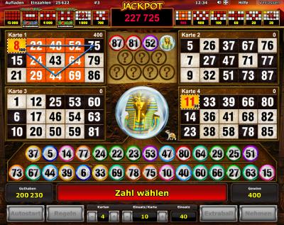 Novoline Book of Ra delxe Bingo kostenlos spielen